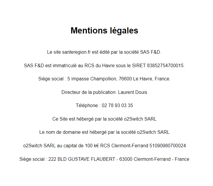 mentions legales